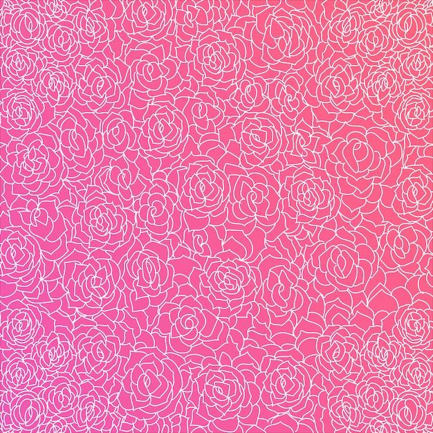 Fondo de color rosa fantástico con rosas blancas | Descargar ...