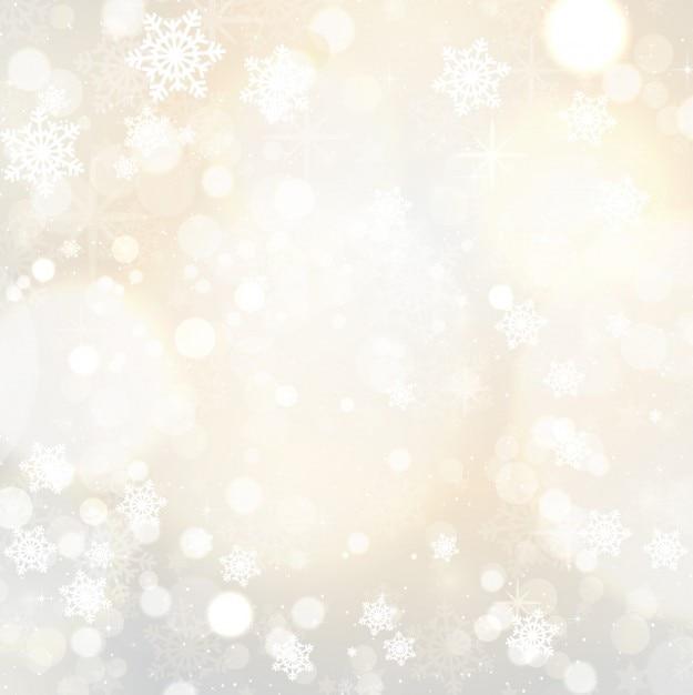 Fondo de copos de nieve y estrellas descargar vectores for Estrella de nieve