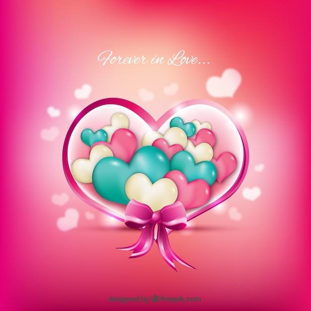 corazones de colores fondo - photo #23