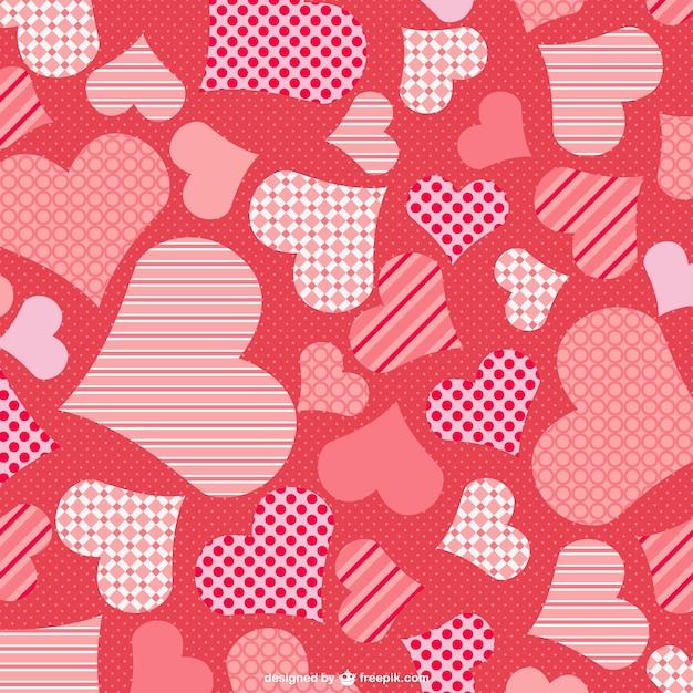 Fondo de corazones de san valentín | Descargar Vectores gratis