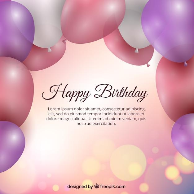 Fondo de cumpleaños con globos | Descargar Vectores gratis - photo#26