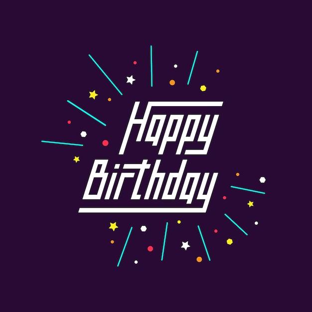 Fondo de cumpleaños feliz Vector Gratis