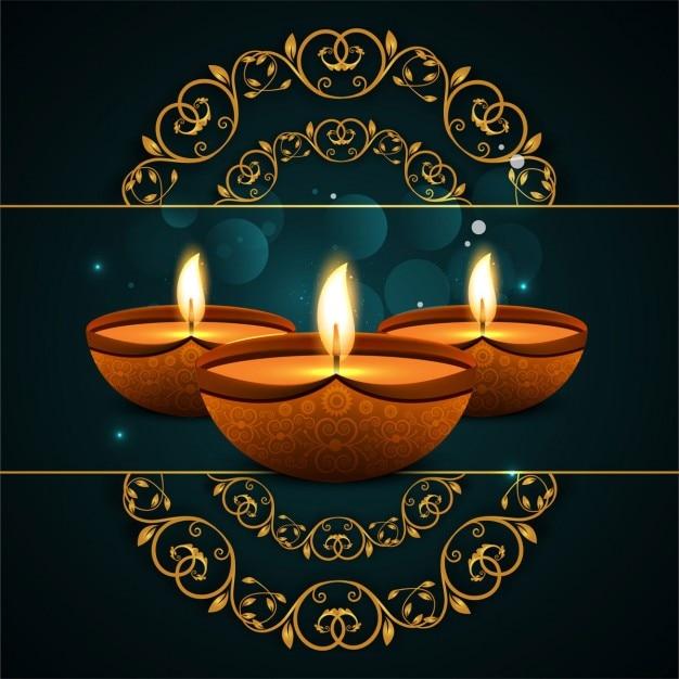 Fondo de diwali con formas ornamentales descargar for Formas ornamentales