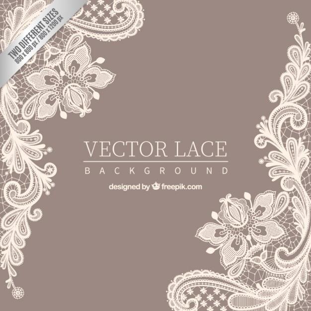 Fondo de encaje ornamental Vector Premium