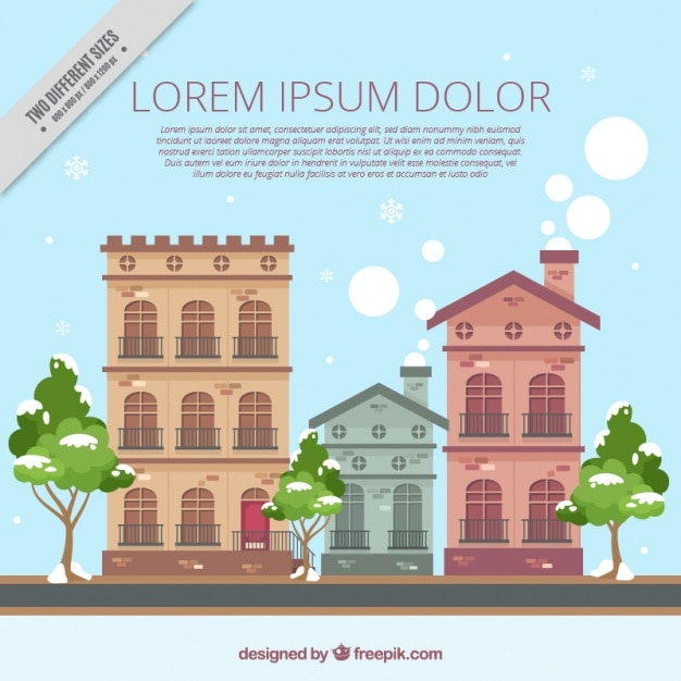 Fondo de fachadas de casas antiguas en dise o plano - Fachadas de casas de diseno ...