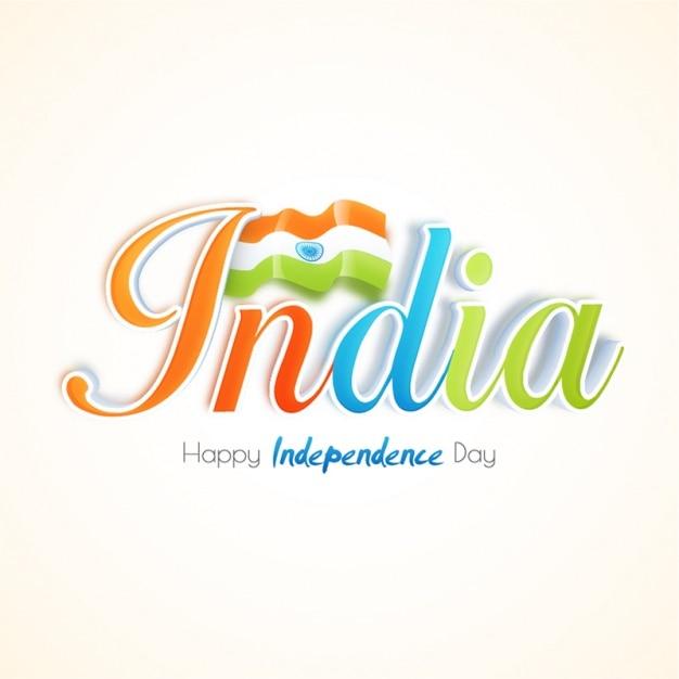 Fondo de feliz día de la independencia con la bandera de la india ...