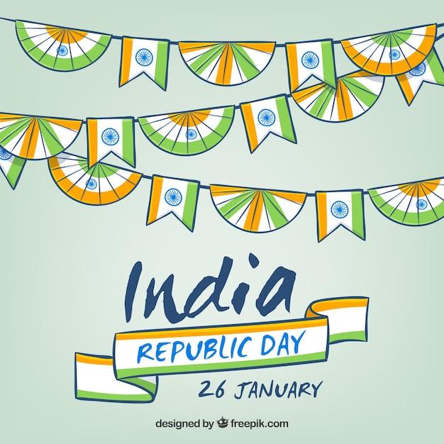 Fondo de feliz día de la república india | Descargar Vectores gratis