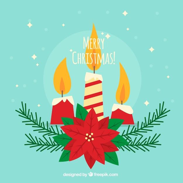 Fondo de feliz navidad con tres velas decoradas - Velas de navidad decoradas ...