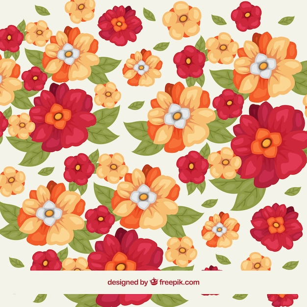 Fondo de flores decorativas con hojas en efecto acuarela for Plantas decorativas hojas