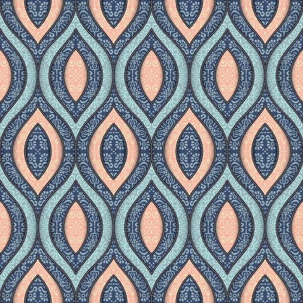 Fondo de formas ornamentales dibujadas a mano descargar for Formas ornamentales