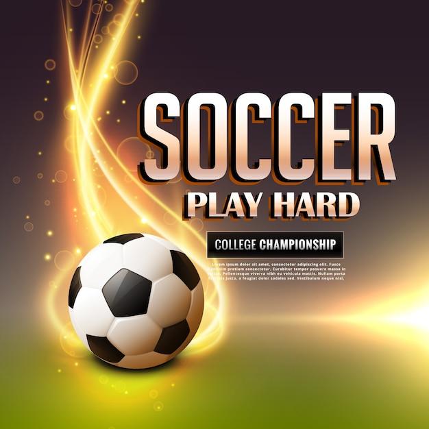 Fondo de fútbol con llama Vector Gratis