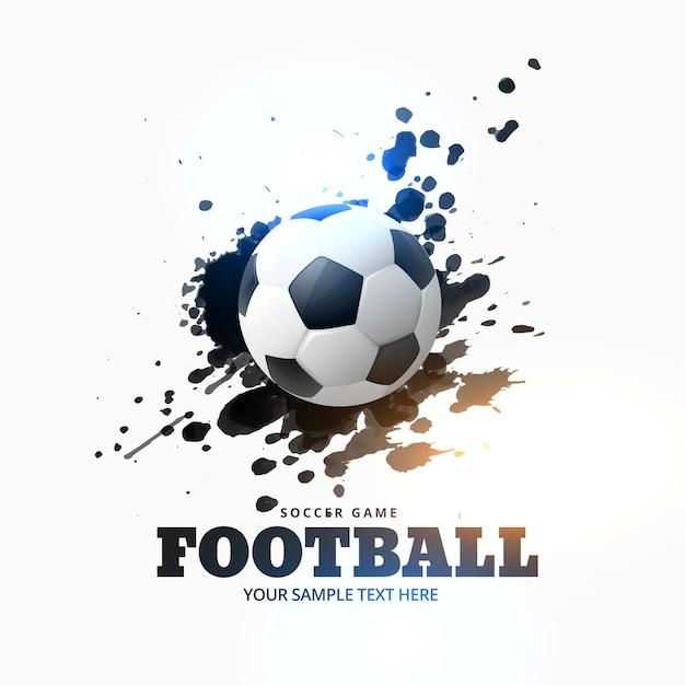 Fondo de fútbol con manchas de tinta Vector Gratis