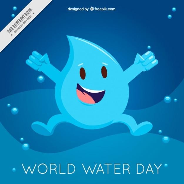 Fondo De Gota Feliz Del Dia Mundial Del Agua Vector Gratis