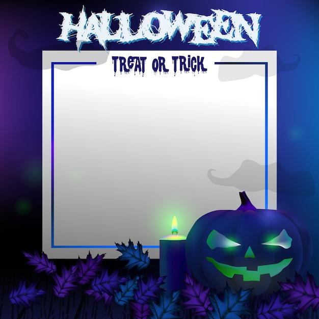 Fondo de halloween espeluznante con calabazas   Descargar Vectores ...