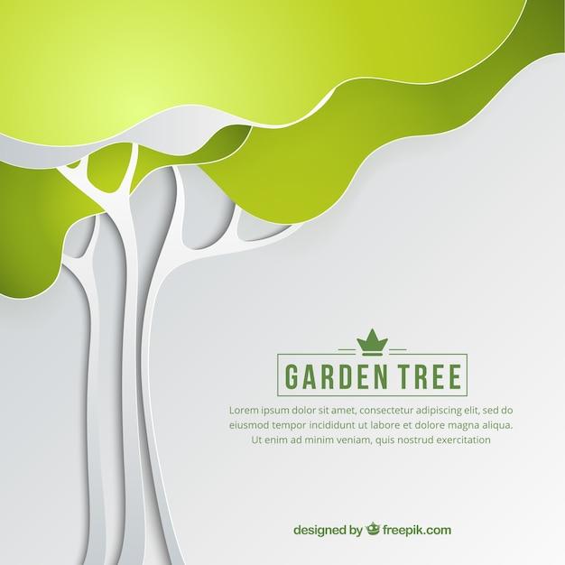 Fondo de jardín de árbol   Descargar Vectores Premium