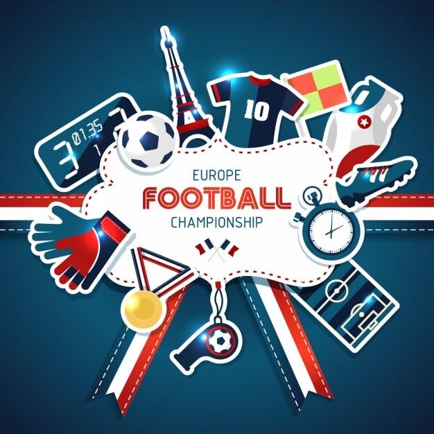 Fondo de la copa de fútbol europea Vector Gratis