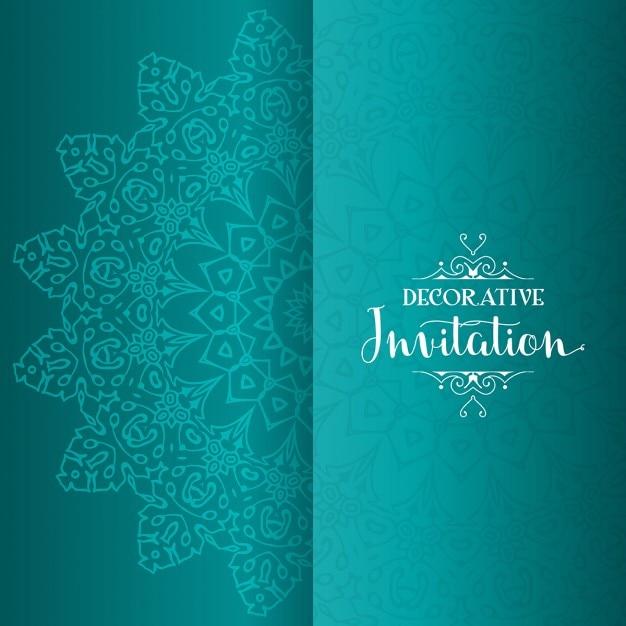 Fondo De La Invitaci 243 N Decorativa Con Mandala Descargar