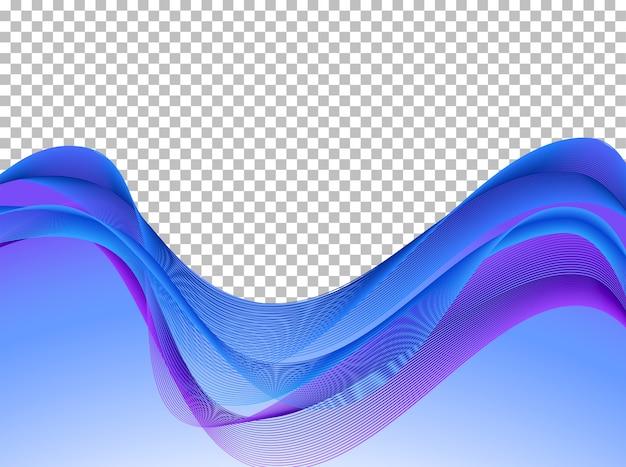 Fondo de líneas onduladas azul y morado | Descargar Vectores Premium