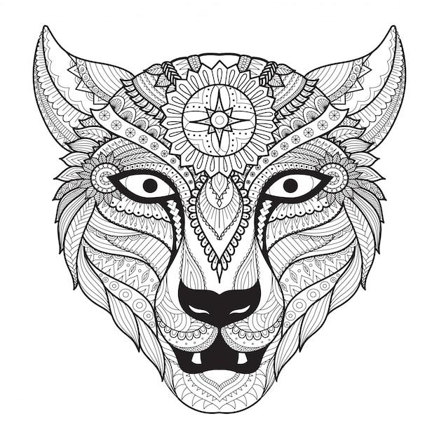 fondo de lobo dibujado a mano  descargar vectores gratis