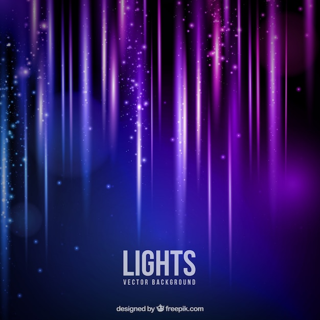 Fondo de luces brillantes Vector Gratis
