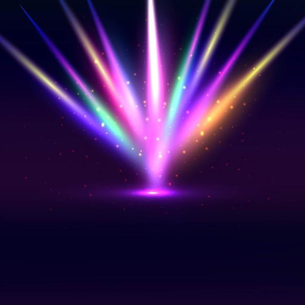 Fondo De Luces Coloridos Chispeantes Descargar Vectores