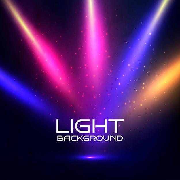 Fondo de luces de colores descargar vectores gratis for Luces de colores