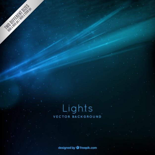 Fondo de luces de galaxia Vector Gratis