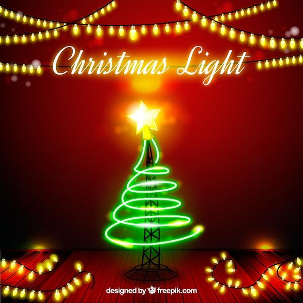 Fondo de luces de navidad con rbol y estrella descargar - Arbol de navidad con luces ...