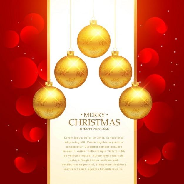 Fondo de lujo con bolas de navidad doradas descargar - Bolas de navidad doradas ...