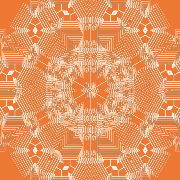 Fondo De Mandala Geométrico Naranja