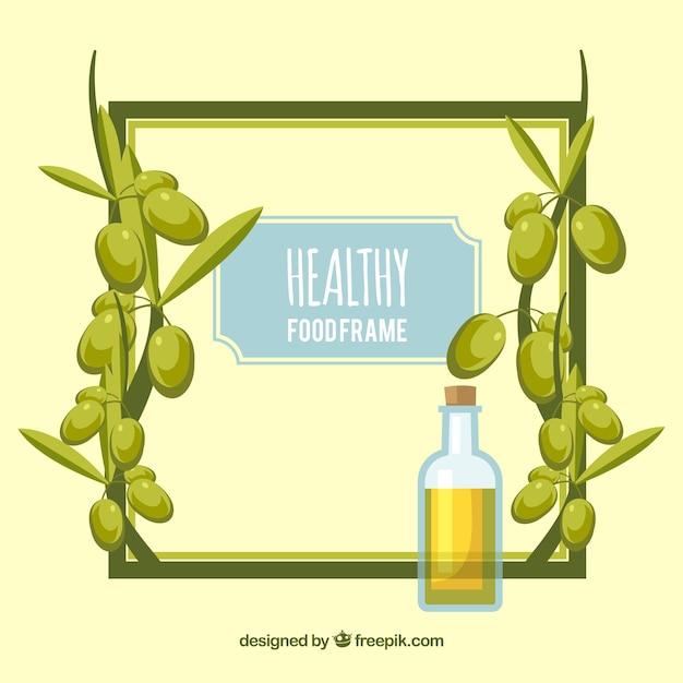Fondo de marco de aceite de oliva | Descargar Vectores gratis