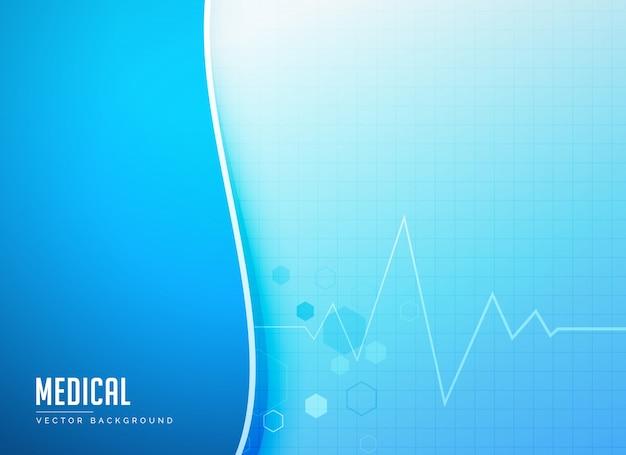 Fondo De Medicina Con Electrocardiograma