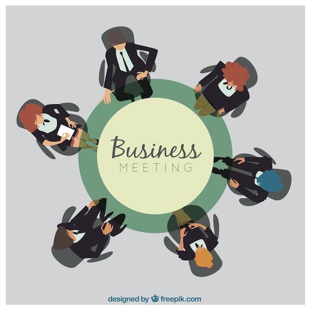 Fondo de mesa redonda y reuni n de negocios descargar vectores gratis - Que es mesa redonda ...