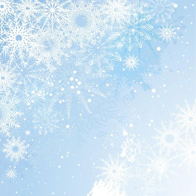 Фон со снежинками 8