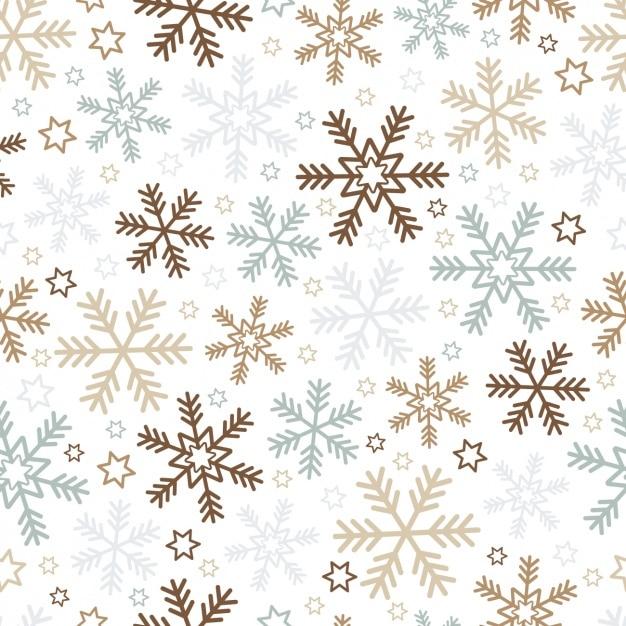 Fondo de navidad con copos de nieve y estrellas for Estrella de nieve