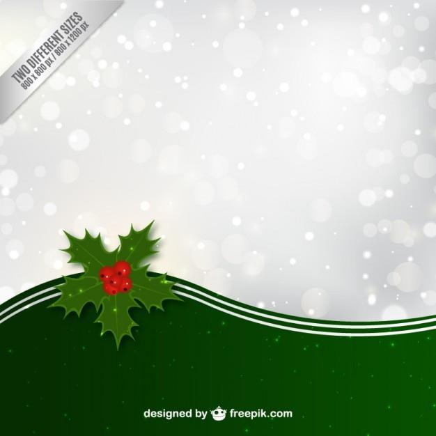 Fondo de navidad con hojas de acebo | Descargar Vectores gratis