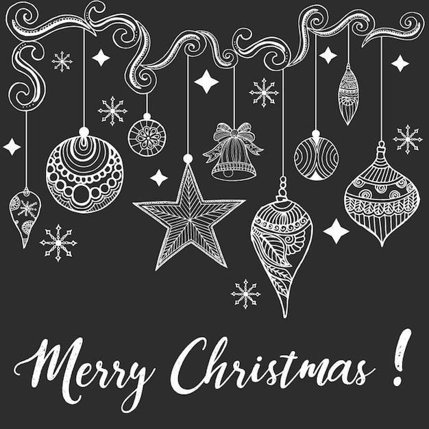 Fondo de navidad dibujado a mano descargar vectores gratis for Kreidemarker vorlagen weihnachten