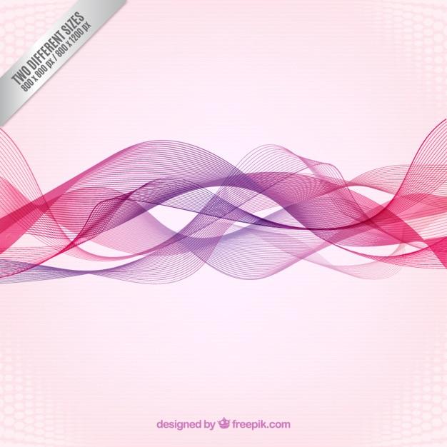 Fondo de ondas abstractas en tonos rosas y morados | Descargar ...