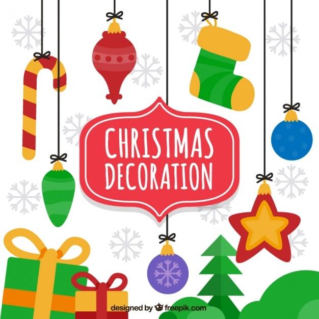 Fondo de ornamentos colgados de navidad descargar - Ornamentos de navidad ...