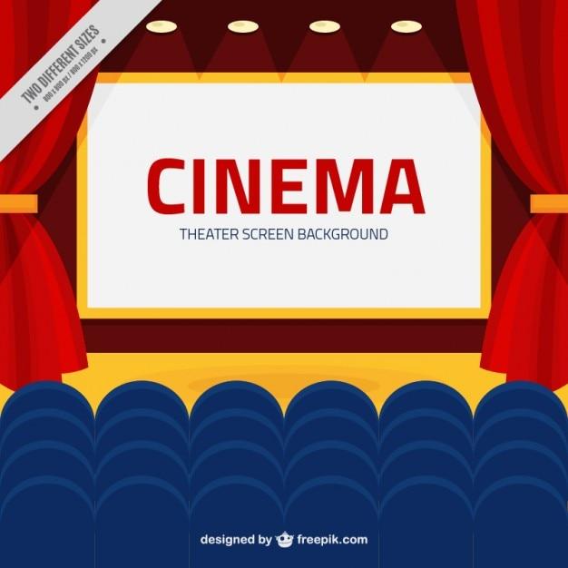 Fondo De Pantalla De Cine Con Butacas Azules