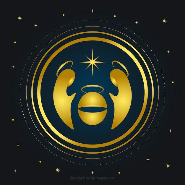 Fondo de portal de bel n moderno dorado descargar vectores gratis - Belen moderno ...