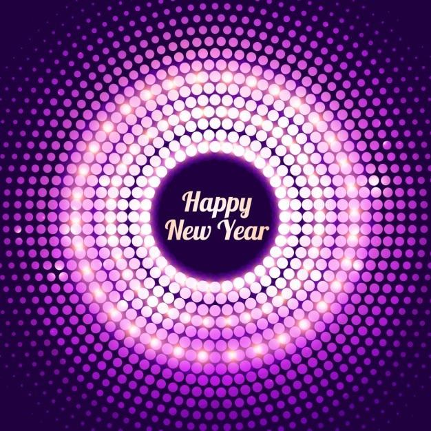Fondo de puntos brillantes de año nuevo en color morado   Descargar ...