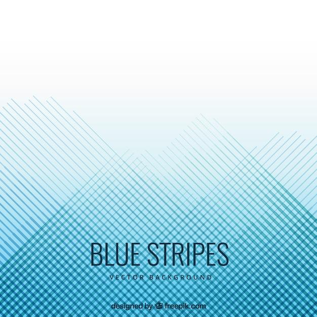 Fondo de rayas azules Vector Premium