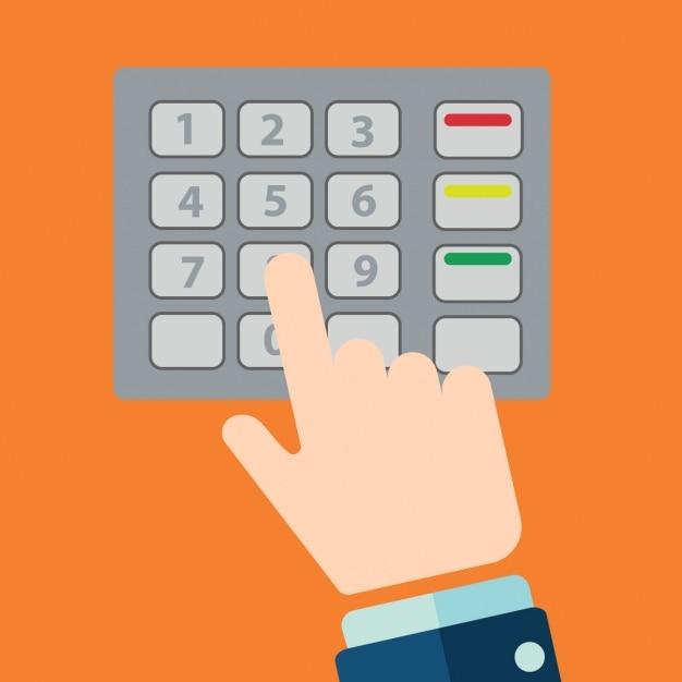 Fondo de teclado de cajero autom tico descargar vectores for Cuanto dinero se puede retirar de un cajero