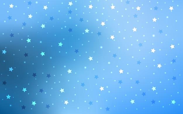 Fondo De Vector Azul Claro Con Estrellas De Colores