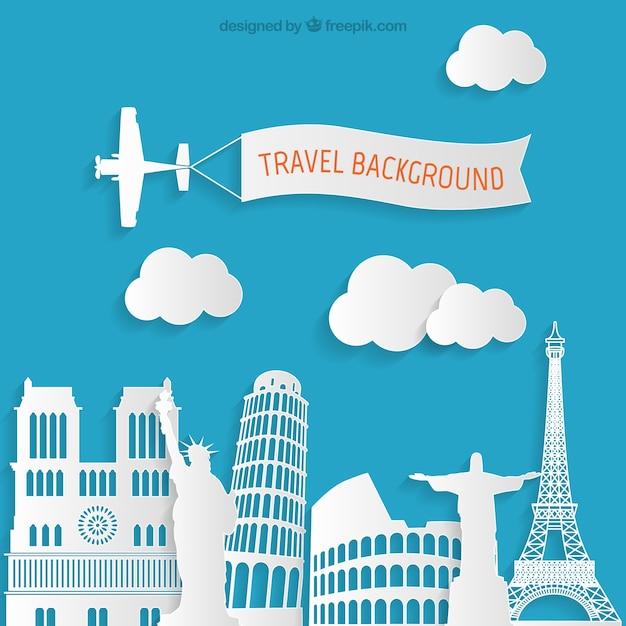 Fondo de viajes Vector Gratis