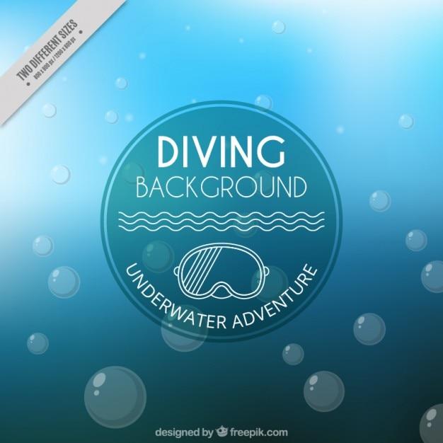 e9f2dd2a3 Fondo debajo del agua con burbujas vector gratuito
