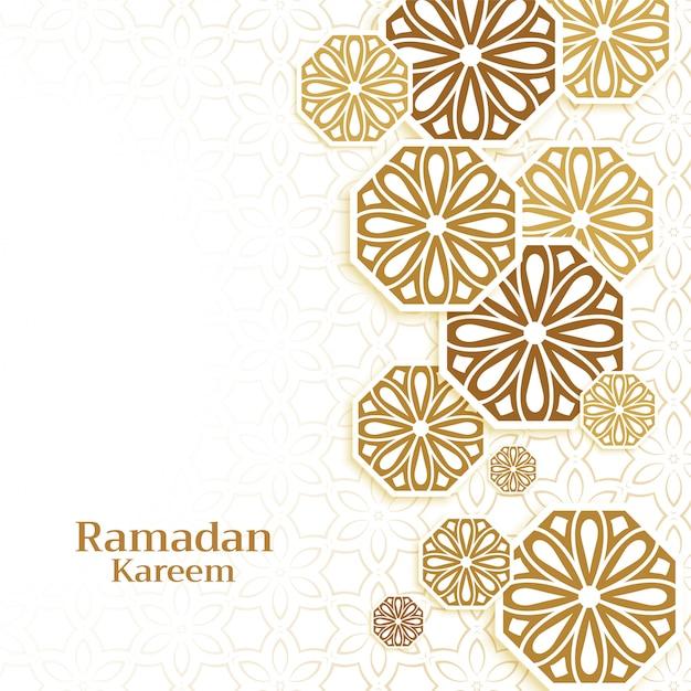 Fondo de decoración islámica para la temporada de ramadán kareem vector gratuito