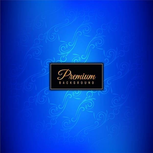 Fondo decorativo azul lujo premium. vector gratuito