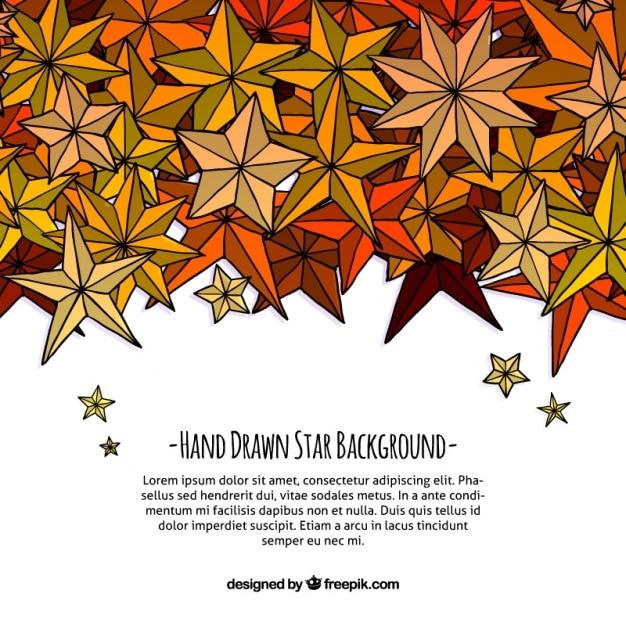 Fondo Decorativo De Bonitas Estrellas Dibujadas A Mano Descargar